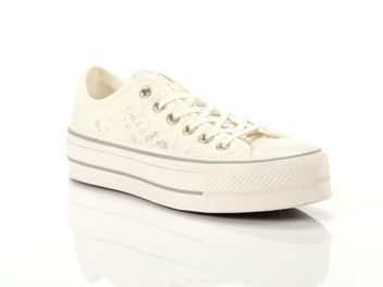 72c61bc87bebf ... closeout converse chuck taylor all star clean lift ox blanche big 6bfe1  be16a